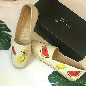 Women's J. Crew Canvas espadrilles with embroidere